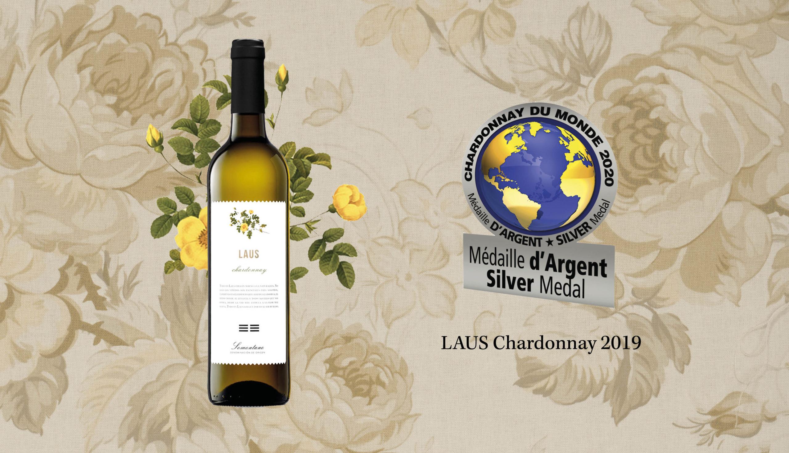 LAUS Chardonnay 2019 obtiene una Medalla de Plata en Chardonnay du Monde