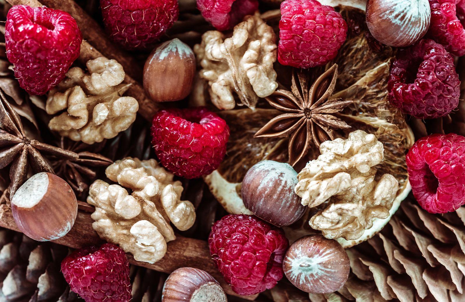 Aromas a frambuesas y frutos secos